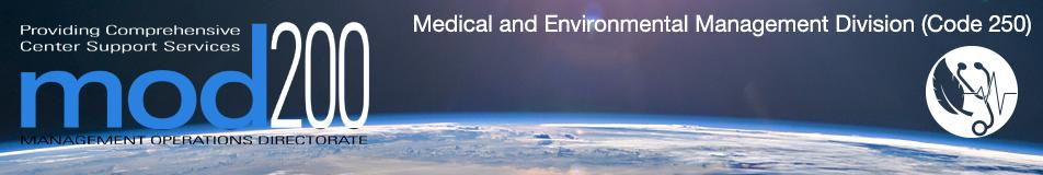 code 250 medical division banner with earth in background